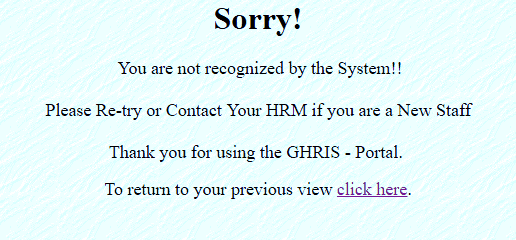 What About If You Forgot Your GHRIS Password