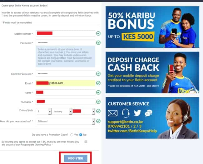 Betin Kenya Winnings