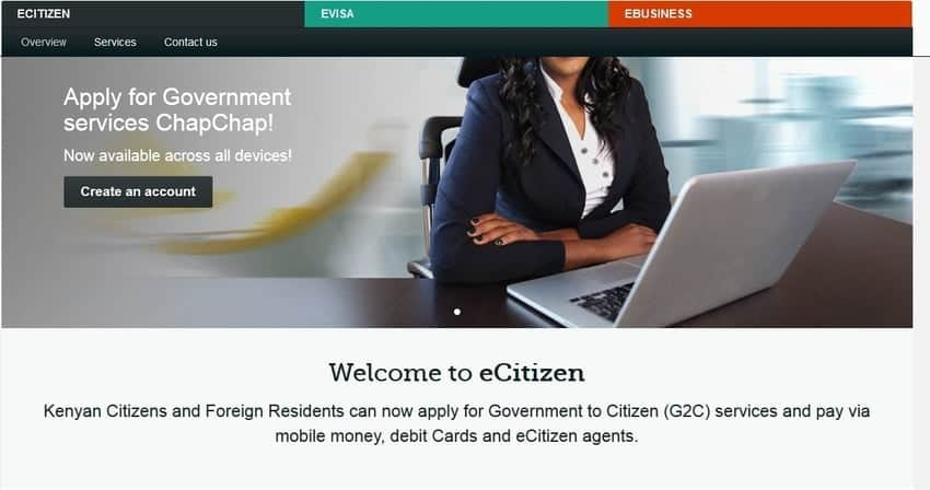 e citizen Registration, ecitizen Login