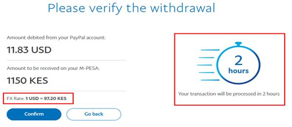 how to withdraw from paypal to mpesa